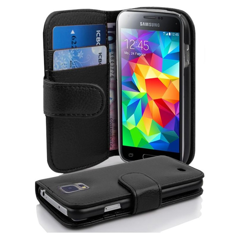 samsung galaxy s5 mini h lle in schwarz von handy h lle mit. Black Bedroom Furniture Sets. Home Design Ideas