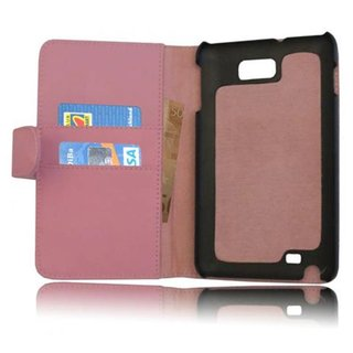 Cadorabo Book Case works with Samsung Galaxy NOTE 1 in DUSKY PINK - with Stand Function and Card Slot made of Smooth Faux Leather - Wallet Etui Cover Pouch PU Leather Flip
