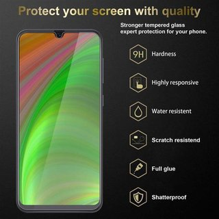 Cadorabo Tempered Glass works with Samsung Galaxy A40 in HIGH TRANSPARENCY - Screen Protection 3D Touch Compatible with 9H Hardness - Bulletproof Display Saver