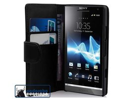 Cadorabo Book Case works with Sony Xperia S in OXID BLACK...