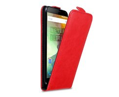Cadorabo Case works with OnePlus 2 in APPLE RED - Flip...