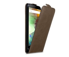 Cadorabo Case works with OnePlus 2 in COFFEE BROWN - Flip...