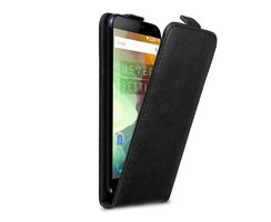 Cadorabo Case works with OnePlus 2 in NIGHT BLACK - Flip...