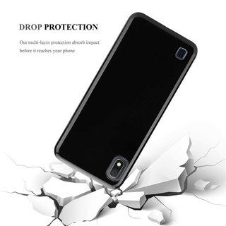 Cadorabo Case works with Samsung Galaxy A10 in BLACK Shockproof and Scratch Resistant TPU Silicone Cover Ultra Slim Protective Gel Shell Bumper Back Skin