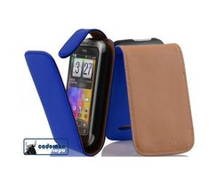 Cadorabo Case works with HTC WILDFIRE S in BRILLIANT BLUE...