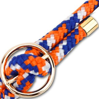 Kordel Band Handykette in ORANGE BLAU WEISS