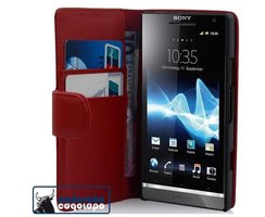 Cadorabo Book Case works with Sony Xperia S in CANDY...
