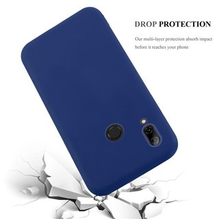 Cadorabo Case works with Huawei P SMART 2019 in CANDY DARK BLUE Shockproof and Scratch Resistant TPU Silicone Cover Ultra Slim Protective Gel Shell Bumper Back Skin