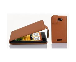 Cadorabo Case works with HTC Butterfly in SADDLE BROWN...