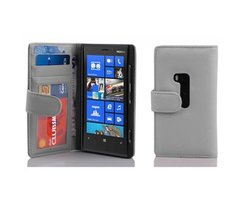 Cadorabo Book Case works with Nokia Lumia 920 in SNOW...
