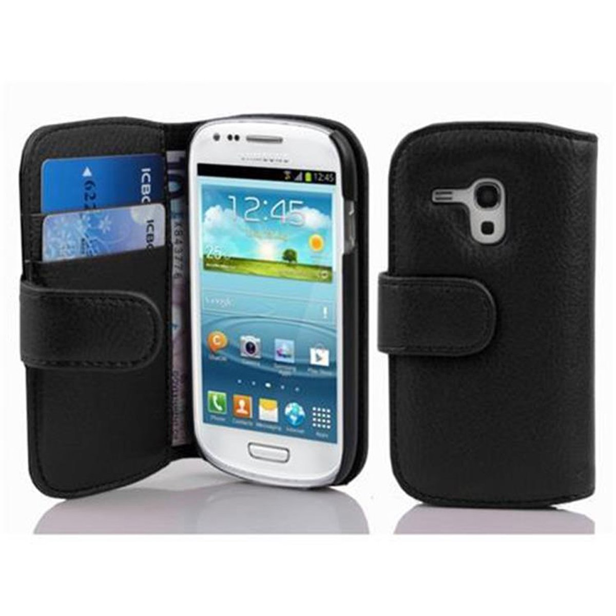 samsung galaxy s3 mini tasche mit kartenfach oxid schwarz. Black Bedroom Furniture Sets. Home Design Ideas