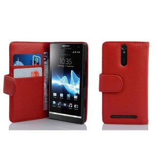 Cadorabo Hülle für Sony Xperia S in INFERNO ROT -...