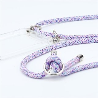 Cadorabo Handy Kette für Samsung Galaxy S9 in UNICORN Silikon Necklace Umhänge Hülle mit Silber Ringen, Kordel Band Schnur und abnehmbarem Etui Schutzhülle