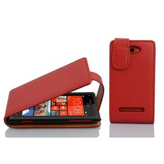 Cadorabo Case works with HTC 8S in CANDY APPLE RED - Flip...