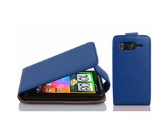 Cadorabo Case works with HTC Desire HD in NAVY BLUE -...