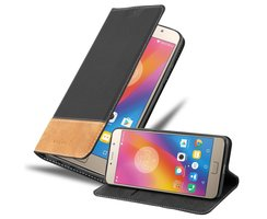 Cadorabo Book Case works with Lenovo P2 in BLACK BROWN -...