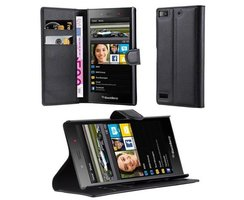 Cadorabo Book Case works with Blackberry Z3 in OXID BLACK...