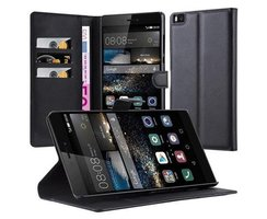 Cadorabo Book Case works with Huawei P8 MAX in OXID BLACK...