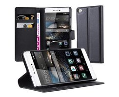 Cadorabo Book Case works with Huawei P8 in OXID BLACK...