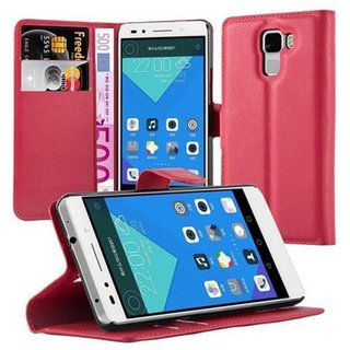 Cadorabo Book Case works with Honor 7 in CANDY APPLE RED...