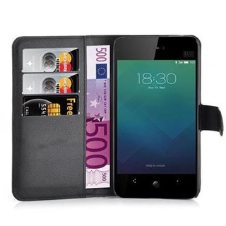Cadorabo Book Case works with MEIZU MX4 in OXID BLACK -...