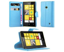 Cadorabo Book Case works with Nokia Lumia 520 in SKY BLUE...