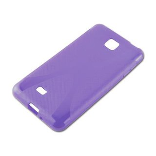 Cadorabo Case works with LG OPTIMUS F5 / LUCID 2 in PASTEL PURPLE - Shockproof and Scratch Resistant TPU Silicone Cover - Ultra Slim Protective Gel Shell Bumper Back Skin