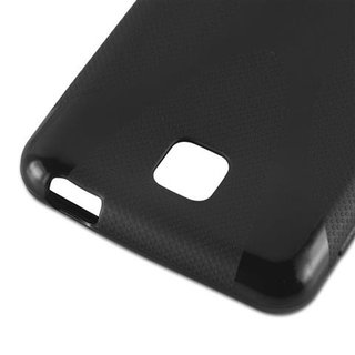 Cadorabo Case works with LG OPTIMUS F5 / LUCID 2 in OXIDE BLACK - Shockproof and Scratch Resistant TPU Silicone Cover - Ultra Slim Protective Gel Shell Bumper Back Skin