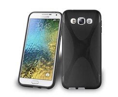 Cadorabo Case works with Samsung Galaxy E5 in OXIDE BLACK...