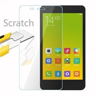 Cadorabo Tempered Glass works with Xiaomi RedMi 2A in HIGH TRANSPARENCY - Screen Protection 3D Touch Compatible with 9H Hardness - Bulletproof Display Saver