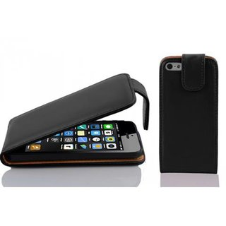 Cadorabo Case works with Apple iPhone 5C in CAVIAR BLACK...