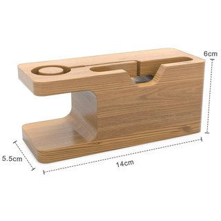 Cadorabo - Docking Station Real Bamboo for iPhone and...
