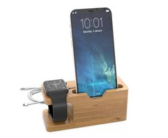 Cadorabo Docking Station Real Bamboo for iPhone and Apple...