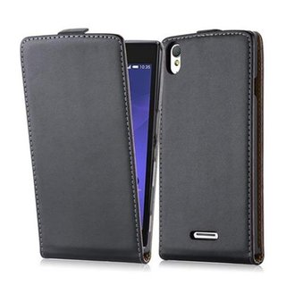 Cadorabo Case works with Sony Xperia T3 in CAVIAR BLACK -...