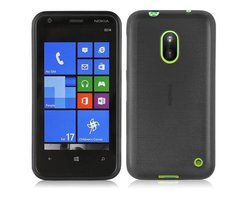 Cadorabo Case works with Nokia Lumia 620 in BLACK...