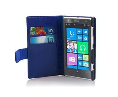 Cadorabo Book Case works with Nokia Lumia 1020 in NAVY...