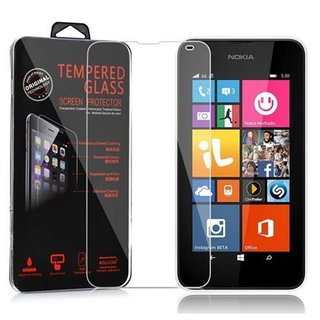 Cadorabo Tempered Glass works with Nokia Lumia 540 in...