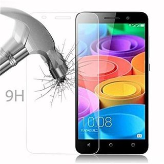 Cadorabo Tempered Glass works with Honor 4X in HIGH TRANSPARENCY - Screen Protection 3D Touch Compatible with 9H Hardness - Bulletproof Display Saver