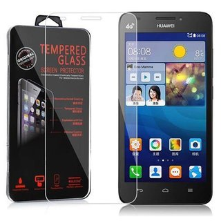 Cadorabo Tempered Glass works with Huawei Ascend G620 in HIGH TRANSPARENCY - Screen Protection 3D Touch Compatible with 9H Hardness - Bulletproof Display Saver