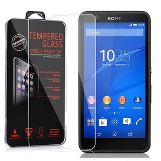 Cadorabo Tempered Glass works with Sony Xperia E4 in HIGH TRANSPARENCY - Screen Protection 3D Touch Compatible with 9H Hardness - Bulletproof Display Saver