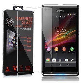 Cadorabo Tempered Glass works with Sony Xperia L in HIGH...