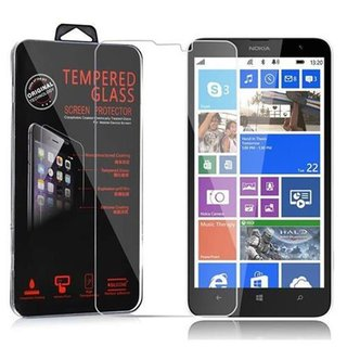 Cadorabo Tempered Glass works with Nokia Lumia 1320 in HIGH TRANSPARENCY Screen Protection 3D Touch Compatible with 9H Hardness Bulletproof Display Saver