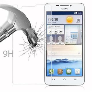Cadorabo Tempered Glass works with Huawei Ascend G630 in HIGH TRANSPARENCY - Screen Protection 3D Touch Compatible with 9H Hardness - Bulletproof Display Saver