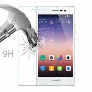 Cadorabo Tempered Glass works with Huawei P7 in HIGH TRANSPARENCY Screen Protection 3D Touch Compatible with 9H Hardness Bulletproof Display Saver