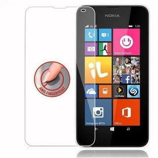 Cadorabo Tempered Glass works with Nokia Lumia 532 in HIGH TRANSPARENCY - Screen Protection 3D Touch Compatible with 9H Hardness - Bulletproof Display Saver
