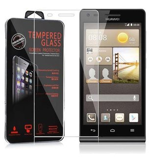 Cadorabo Tempered Glass works with Huawei G6 in HIGH TRANSPARENCY - Screen Protection 3D Touch Compatible with 9H Hardness - Bulletproof Display Saver