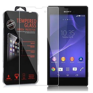 Cadorabo Tempered Glass works with Sony Xperia T3 in HIGH TRANSPARENCY - Screen Protection 3D Touch Compatible with 9H Hardness - Bulletproof Display Saver