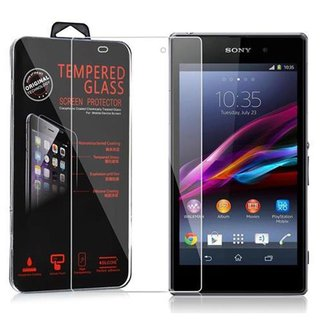 Cadorabo Tempered Glass works with Sony Xperia Z1 in HIGH...