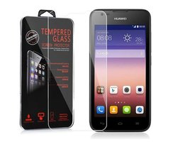 Cadorabo Tempered Glass works with Huawei Ascend Y550 in...