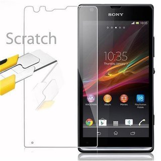 Cadorabo Tempered Glass works with Sony Xperia S in HIGH...